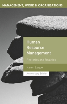 Image for Human resource management  : rhetorics and realities