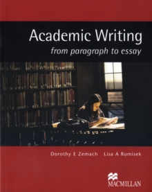 Image for Academic writing  : from paragraph to essay