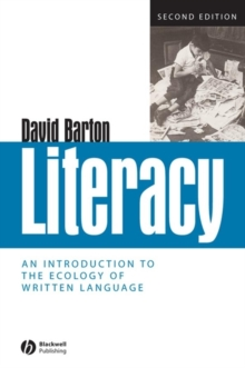 Image for Literacy  : an introduction to the ecology of written language