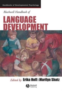 Image for Blackwell handbook of language development