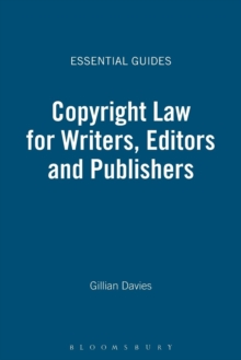 Image for Copyright law for writers, editors and publishers