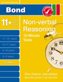 Image for Bond 10 minute tests7-8 years: Non-verbal reasoning