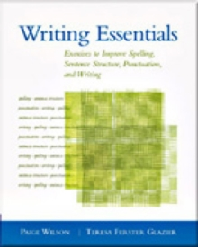 Image for Writing essentials  : exercises to improve spelling, sentence structure, punctuation, and writing