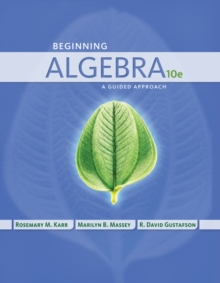 Image for Beginning Algebra : A Guided Approach
