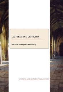 Image for Lectures and Criticism