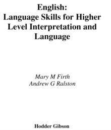 Image for Language skills for Higher English: interpretation and language