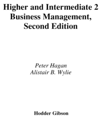 Image for Higher and intermediate 2 business management