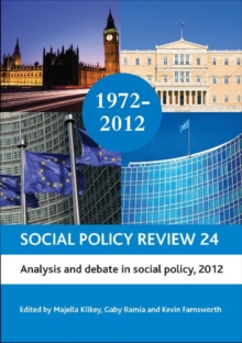 Image for Social policy review24,: Analysis and debate in social policy, 2012