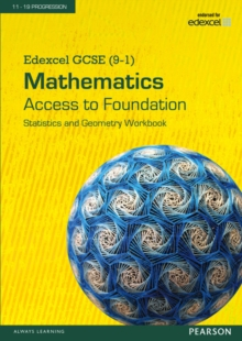 Edexcel GCSE (9-1) Mathematics - Access to Foundation Workbook: Statistics & Geometry pack of 8