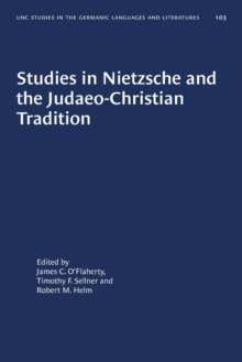 Image for Studies in Nietzsche and the Judaeo-Christian Tradition