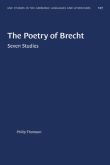 Image for The Poetry of Brecht : Seven Studies