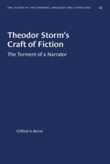 Image for Theodor Storm's Craft of Fiction : The Torment of a Narrator