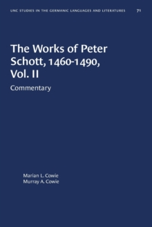 Image for The Works of Peter Schott, 1460-1490, Vol. II : Commentary