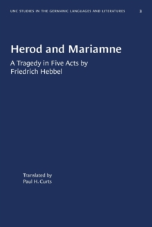 Image for Herod and Mariamne : A Tragedy in Five Acts by Friedrich Hebbel