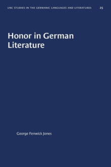 Image for Honor in German Literature