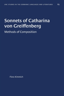 Image for Sonnets of Catharina von Greiffenberg : Methods of Composition