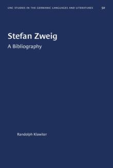 Image for Stefan Zweig : A Bibliography