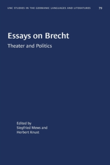 Image for Essays on Brecht : Theater and Politics