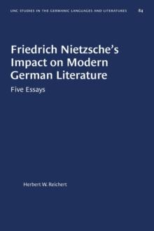 Image for Friedrich Nietzsche's Impact on Modern German Literature : Five Essays