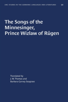 Image for The Songs of the Minnesinger, Prince Wizlaw of Rugen