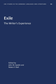 Image for Exile : The Writer's Experience