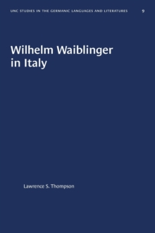 Image for Wilhelm Waiblinger in Italy