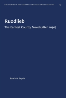 Image for Ruodlieb : The Earliest Courtly Novel (after 1050)