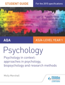 Image for AQA psychology.: approaches in psychology, biopsychology and research methods (Psychology in context)