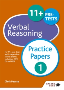 Image for 11+ verbal reasoning  : for 11+, pre-test and independent school exams including CEM, GL and ISEB: Practice papers 1