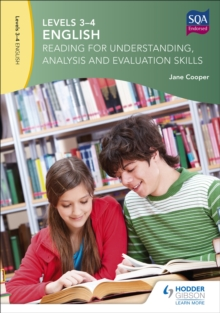 Image for English  : reading for understanding, analysis and evaluation skillsLevels 3-4