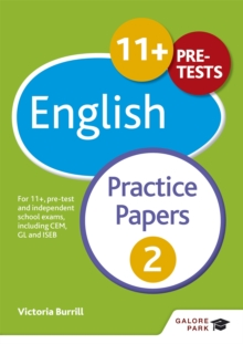 Image for 11+ English practice papers 2  : for 11+, pre-test and independent school exams including CEM, GL and ISEB