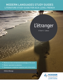 Image for L'etranger  : literature study guide for AS/A-level French