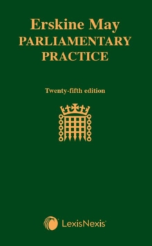 Image for Erskine May  : parliamentary practice