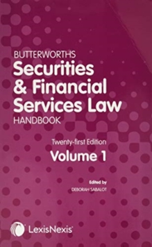 Image for Butterworths Securities and Financial Services Law Handbook