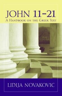 Image for John 11a21 : A Handbook on the Greek New Testament