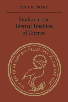 Image for Studies In The Textual Tradition Of Terence