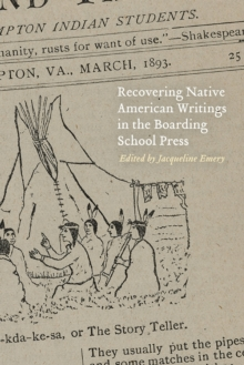 Image for Recovering Native American Writings in the Boarding School Press