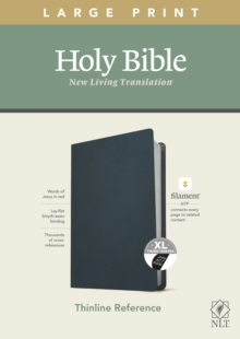 Image for NLT Large Print Thinline Reference Bible, Filament Enabled E