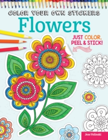Image for Color Your Own Stickers Flowers