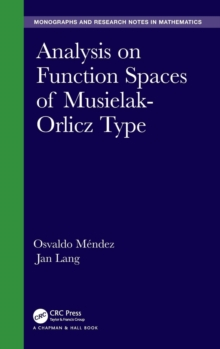 Image for Analysis on function spaces of Musielak-Orlicz type