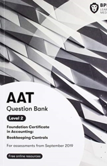 Image for AAT bookkeeping controls: Question bank