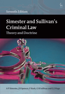 Image for Simester and Sullivan's criminal law