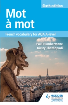 Image for Mot a mot: French vocabulary for AQA A-level.