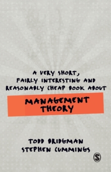 Image for A very short, fairly interesting and reasonably cheap book about management theory