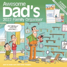 Image for Awesome Dads Family Organiser Square Wall Planner Calendar 2022