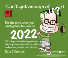 Image for Can't Get Enough of Golf Box Calendar 2022