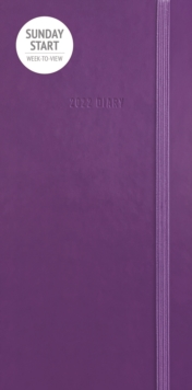 Image for Sunday Start Purple Soft Touch Slim Diary 2022