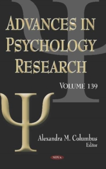 Image for Advances in Psychology Research. Volume 139 : Volume 139