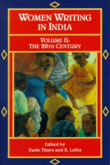 Image for Women Writing India: Volume Ii : The 20th Century