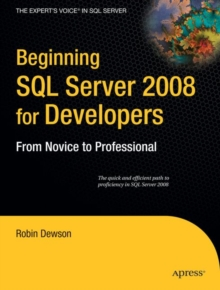 Image for Beginning SQL Server 2008 for Developers : From Novice to Professional
